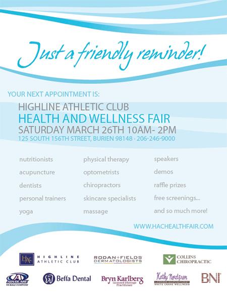 Wellness Fair – Highline Athletic Club